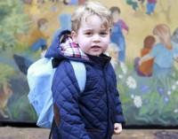 El príncipe George y su primer día de escuela