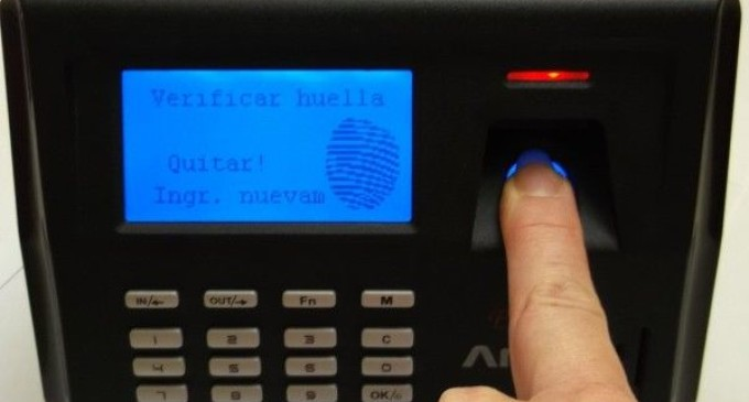 Desde el lunes rige control biométrico en instituciones públicas