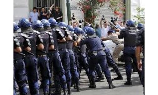 Represión y heridos en manifestación docente