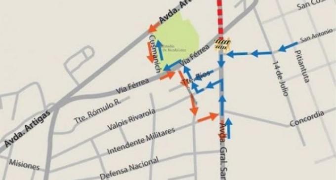 Bloquean avenida General Santos por obras de saneamiento