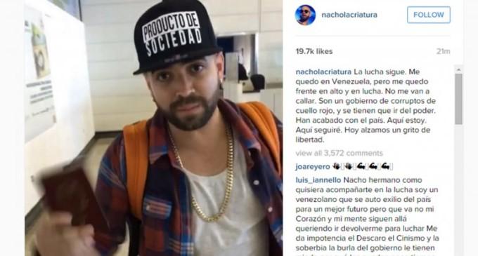 """El régimen chavista le bloqueó el pasaporte a un cantante del dúo """"Chino y Nacho"""""""