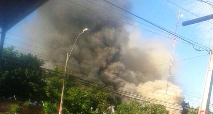 Controlan fuego en la subestación de Lambaré