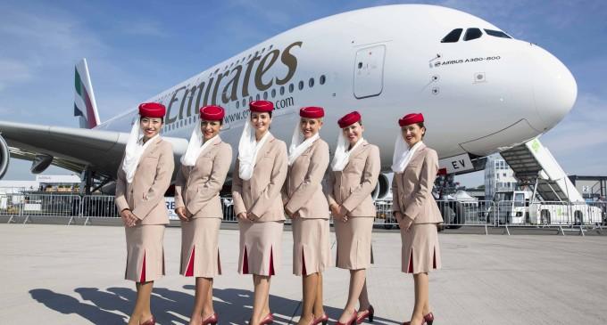 Emirates aterriza para contratar tripulación paraguaya