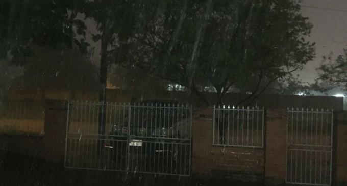 Intensa lluvia en el Norte