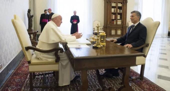 El papa y Macri hablaron en el Vaticano de la lucha contra la pobreza y el narcotráfico