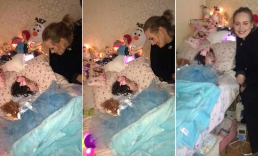 La emotiva visita de Adele al hogar de una niña enferma