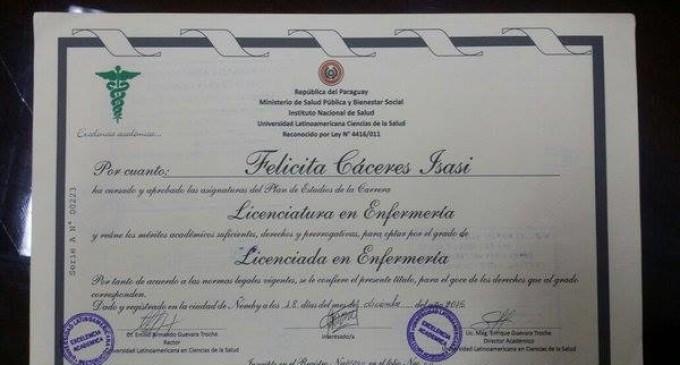 Negligencia: Universidad 'garage' emite 34 títulos adulterados de enfermería