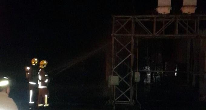Incendio en subestación de Natalio: Restablecen energía eléctrica