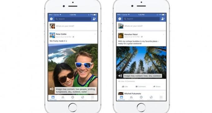 """Facebook """"leerá"""" las fotos a personas ciegas"""