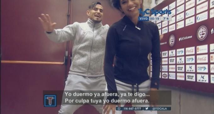 El jugador paraguayo Victor Ayala relató su propio gol con periodista panameña