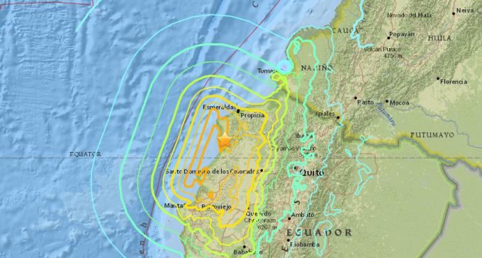 Se registra un nuevo sismo de magnitud 6,1 en Ecuador