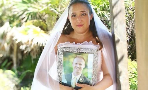Emotivo homenaje de esta novia cuyo prometido falleció días antes de su boda