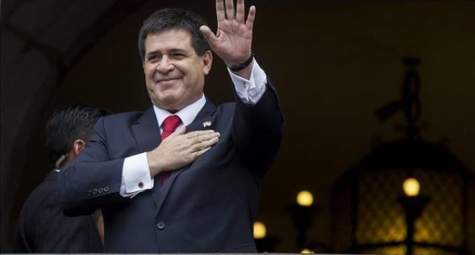 Horacio Cartes presente en la inauguración de la ampliación del Canal de Panamá