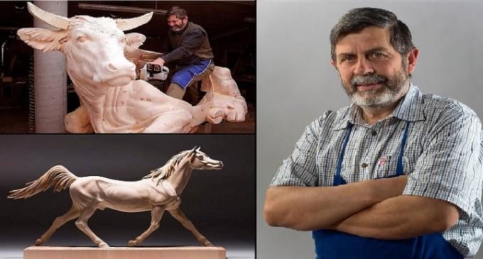 Asombrosos animales hechos de madera