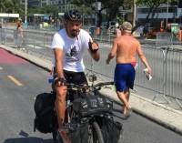 """""""El loco de la vida"""" cumplió el desafío -A Río en Bici-"""