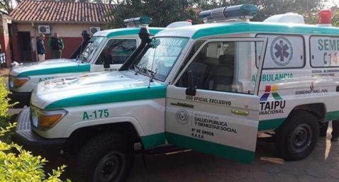 Hospitales de Villa Florida y Ayolas con nuevas ambulancias