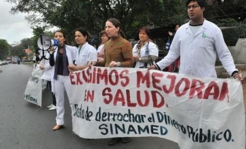 Sindicato de médicos se manifestarán hoy por la ampliación presupuestaria