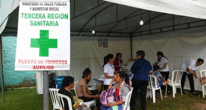 Más de 5.000 fieles ya fueron atendidos en puestos de Salud Pública