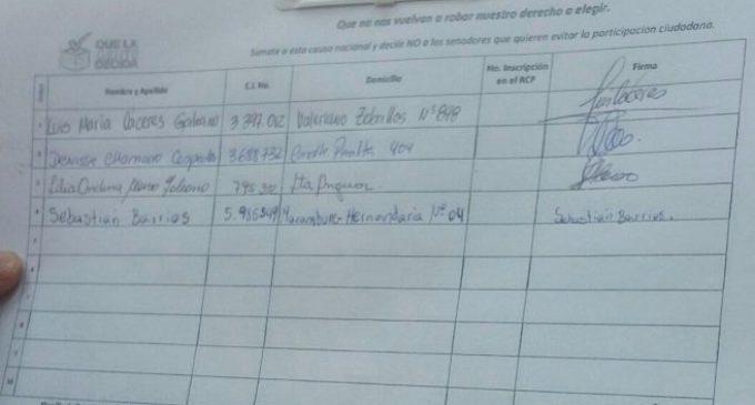 Defensor del Pueblo investigará recolección de firmas