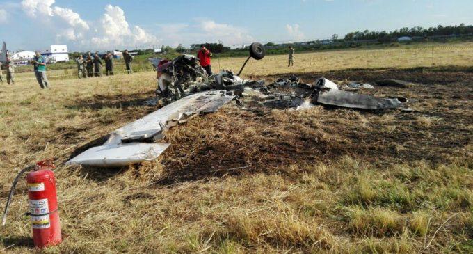 Se estrelló avioneta militar en Luque