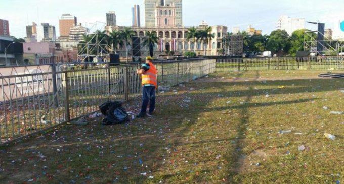 Municipalidad de Asunción recolectó casi 2.000.000 de kilos de basura durante el fin de semana