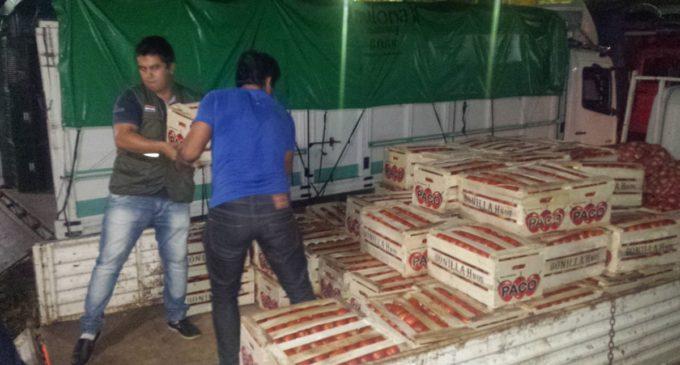 Contrabando: Decomisan casi 3.500 kilos de vegetales