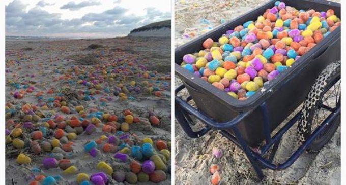 Una playa de Alemania quedó repleta de juguetes tras el paso de un ciclón