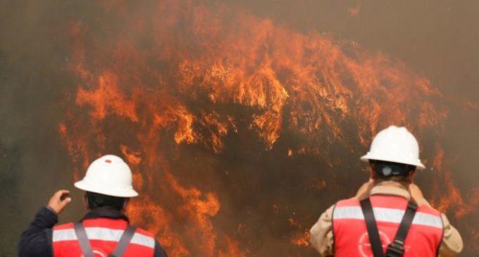 Feroz incendio en Valparaíso, Chile, afecta 100 viviendas y deja al menos 19 heridos