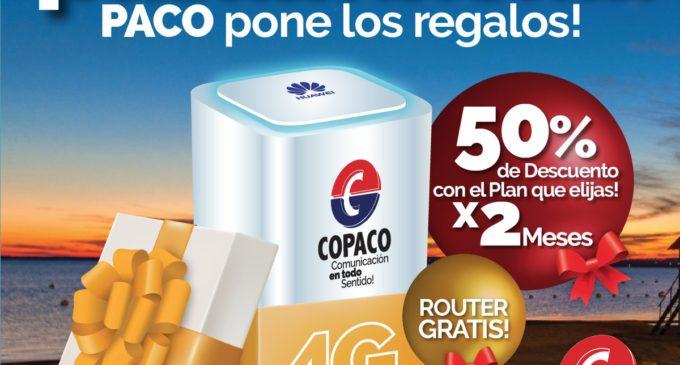 """Copaco continúa con su promoción de internet """"Pasala bien"""""""