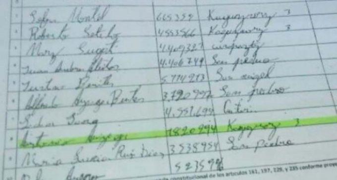 TSJE explica que los nombres fueron cargados tal cual como los envió la ANR