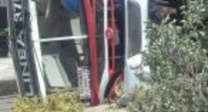 Todo indica que vuelco de bus se debió a exceso de velocidad