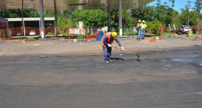 Después de la muerte del periodista, repararon baches en San Lorenzo
