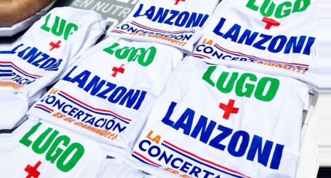 Lugo niega candidatura pero hay remeras de su dupla con Lanzoni, cuestiona senador