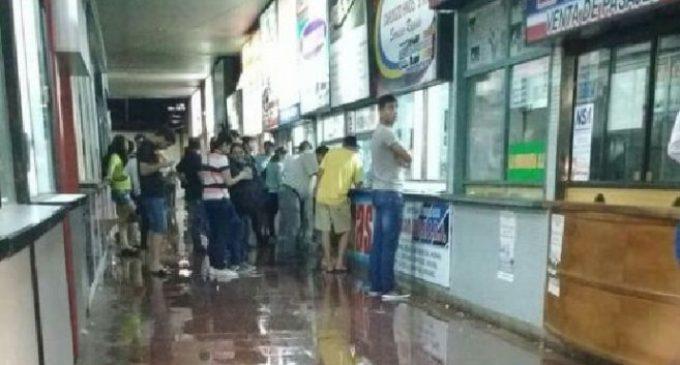 Terminal de Ómnibus inundada tras temporal