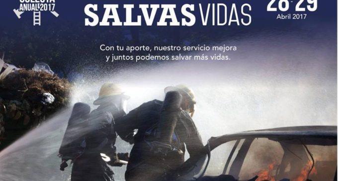 """Bomberos realizarán colecta """"Ayudando Salvás Vidas"""" para compra de nuevos equipos"""