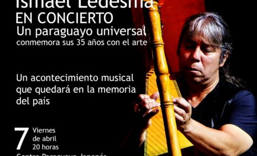 Reconocido arpista paraguayo celebra 35 años de carrera