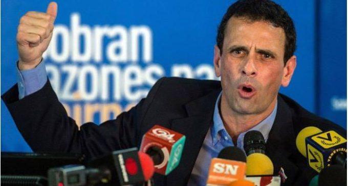 Régimen de Maduro inhabilita por 15 años a Henrique Capriles para ejercer cargos públicos
