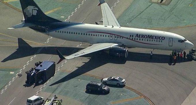 Un choque de avión con un camión dejó ocho heridos en Estados Unidos