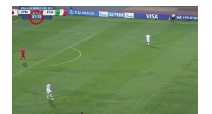 Sospechoso final en el partido entre Italia y Japón en el Mundial Sub 20