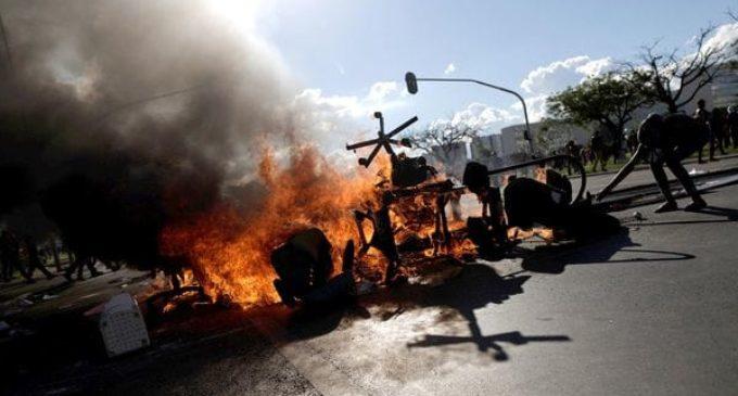 Enfrentamientos en Brasilia en multitudinaria marcha contra Michel Temer