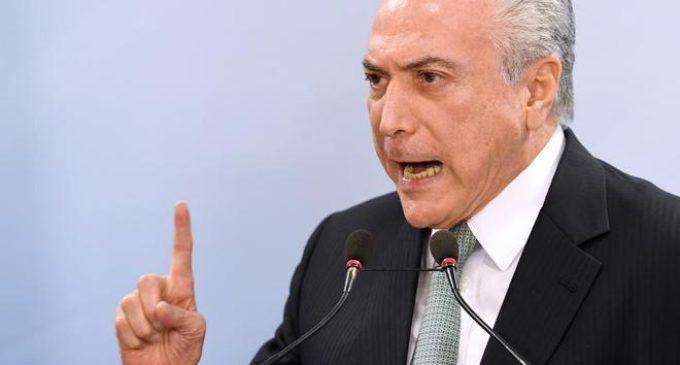 Fiscalía de Brasil acusa a Michel Temer por obstrucción a la justicia en la investigación de Lava Jato