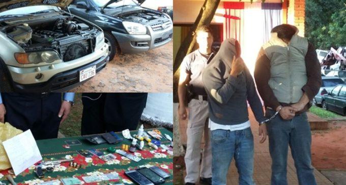 Recuperan vehículo robado del Ministerio del Interior y detienen a dos personas