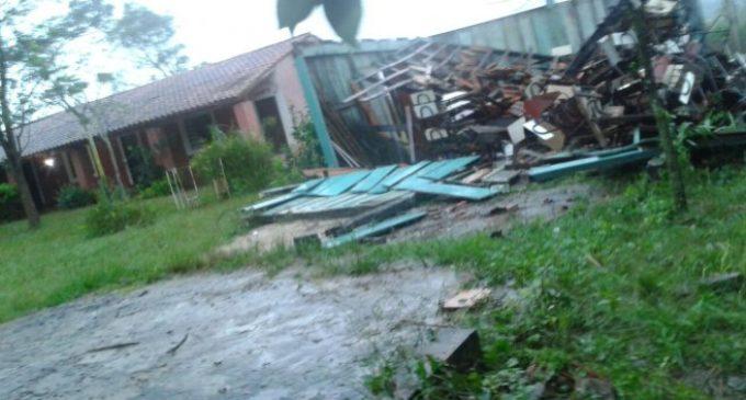 Temporal devastó casas en Santaní