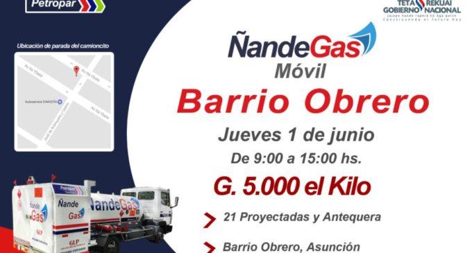 Ñande Gas Móvil estará este jueves en Barrio Obrero