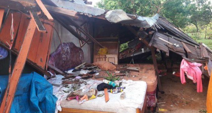 Al menos 100 familias perdieron sus casas tras temporal en Yataity del Norte