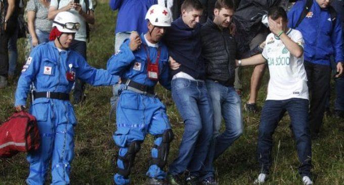 Sobrevivientes del Chapecoense visitaron el sitio de la tragedia aérea en Colombia