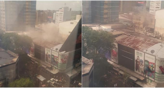 Gran incendio en pleno centro de Ciudad del Este