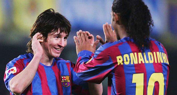 A 12 años del primer gol de Messi con Barcelona