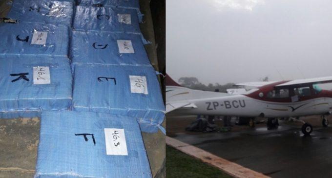 Incautan más de 500 kilos de cocaína y una aeronave