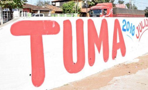 Denuncian a Óscar Tuma por propaganda política en paredes del túnel Semidei